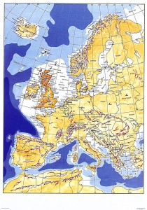 Het witte gebied rond Engeland vormt een van de rijkste visgronden ter wereld. Ideaal windmolengebied toch?