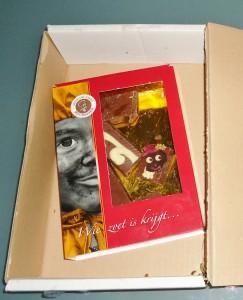 De gebroken letterknecht in de doos. Een Warenwettelijke giller! Wat is voedingsmiddelentechnologie toch een lekker vak! Op naar 2012.