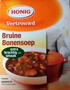 De soep ziet er lekker uit. Een student voedingsmiddelentechnologie zal nog meer smullen van de inhoud van het etiket.