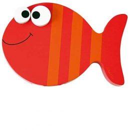 Dit is de enige legale manier om vis te kleuren. Gewoon een houdten vis nemen met de kwast en een potje verf.